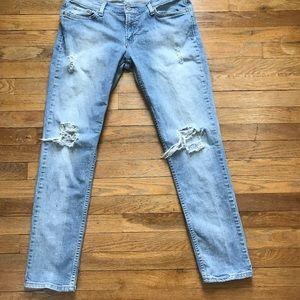 Distressed Levi's Jeans